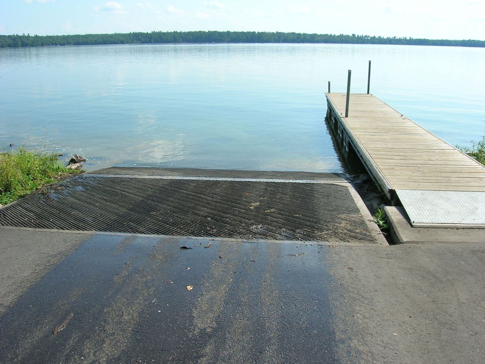 Boat landing and courtesy pier partially funded by the RFAP program